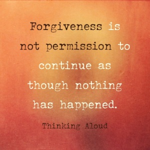 Forgiveness is not denial